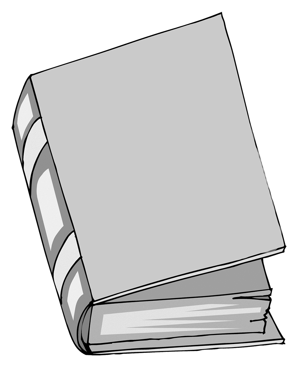 grey book clipart no title
