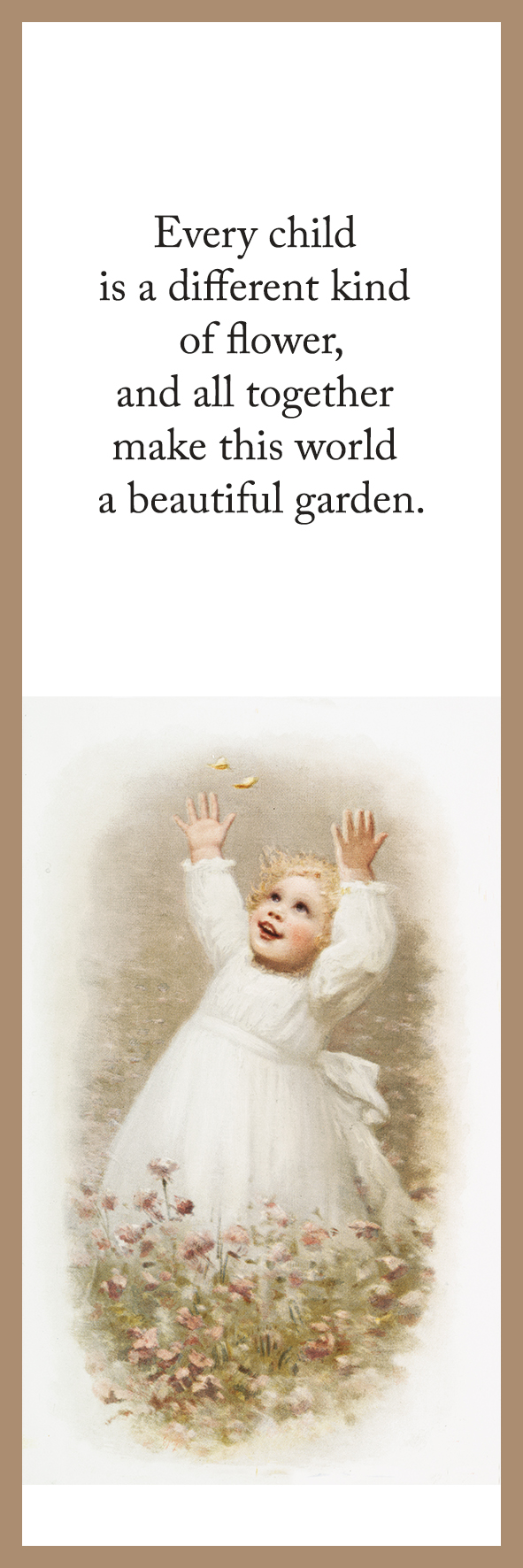 bookmark with quote and drawing of child