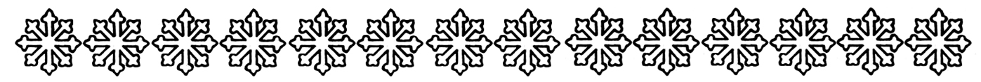 snow flake border