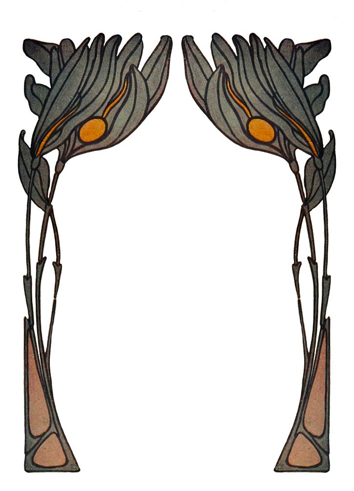 border Art Nouveau frame