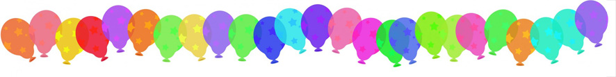 border of balloons
