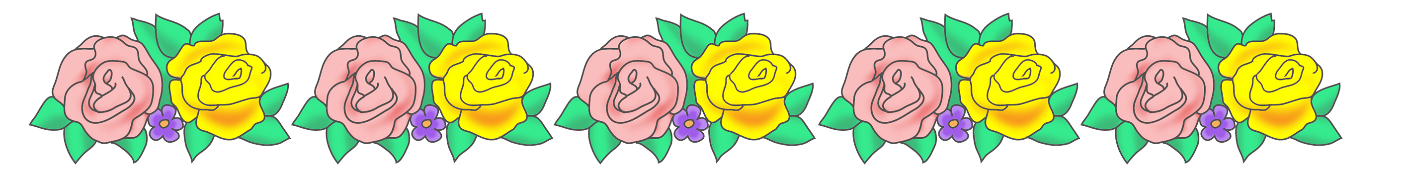 rose flower border