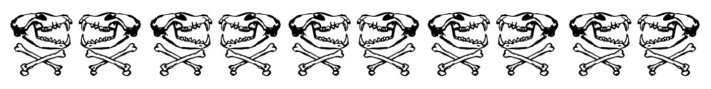 border animal skulls and crossbones