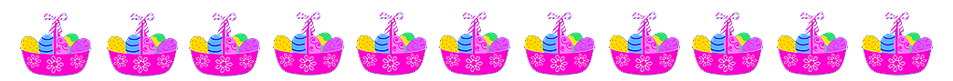 border with Easter baskets and eggs