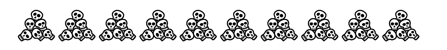 border with piles of skulls
