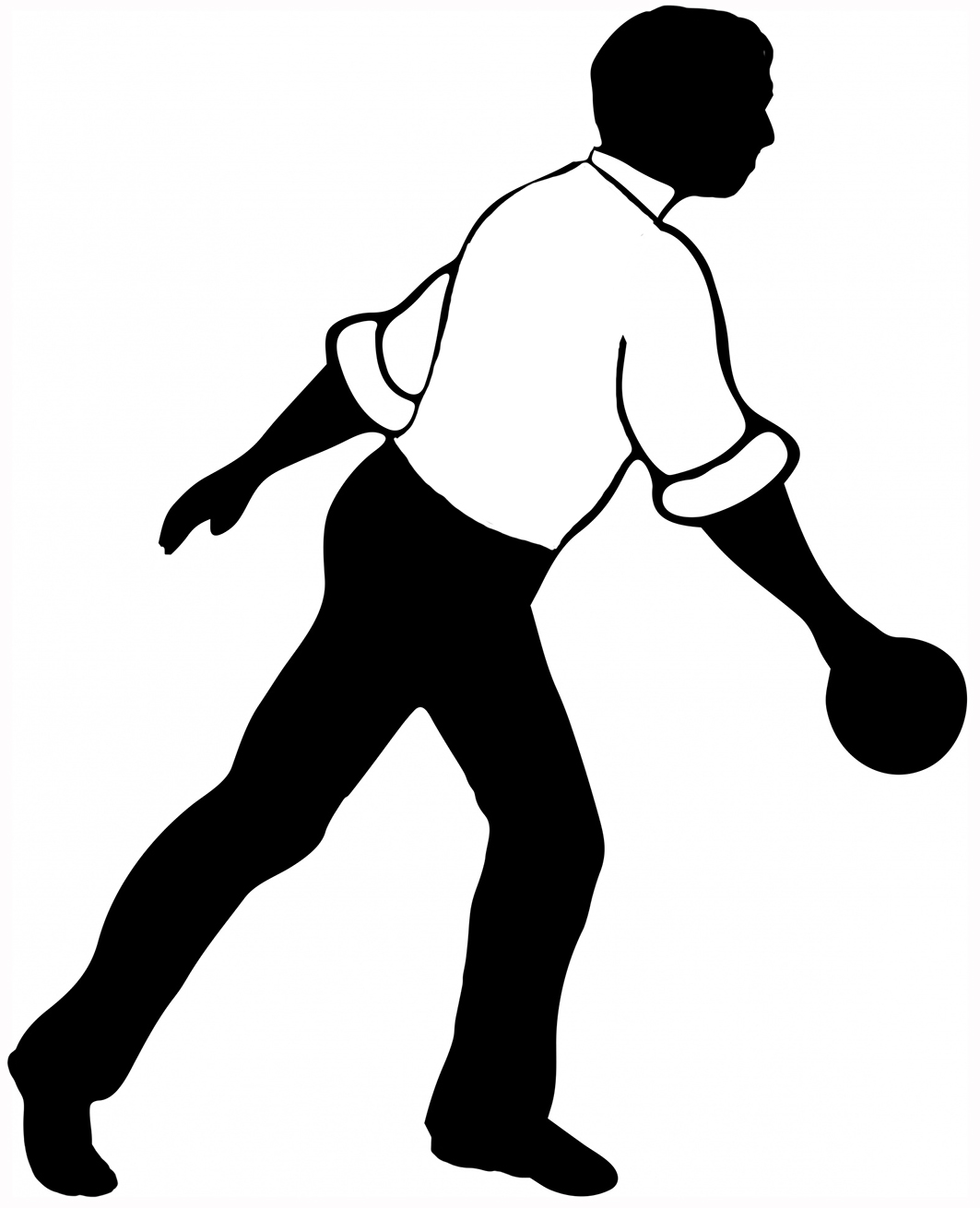 man in white shirt bowling picture