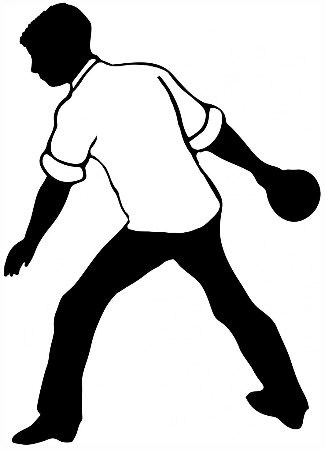 bowling silhouette black white