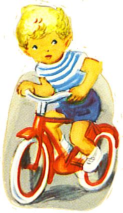 scrap image of boy on bike