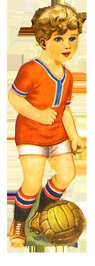 scrap boy playing soccer