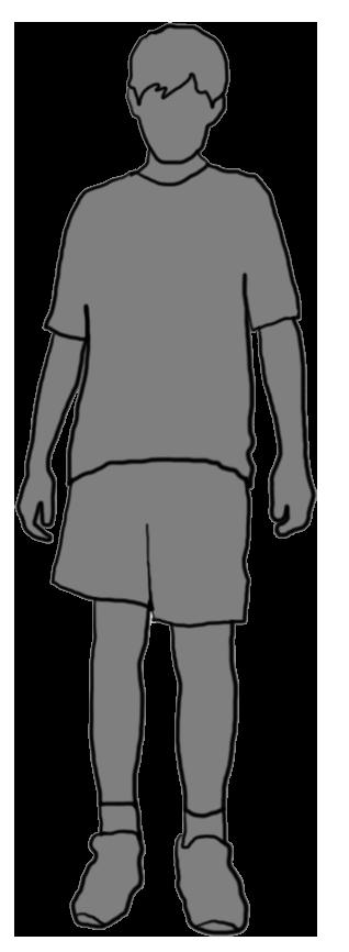 grey silhouette of boy