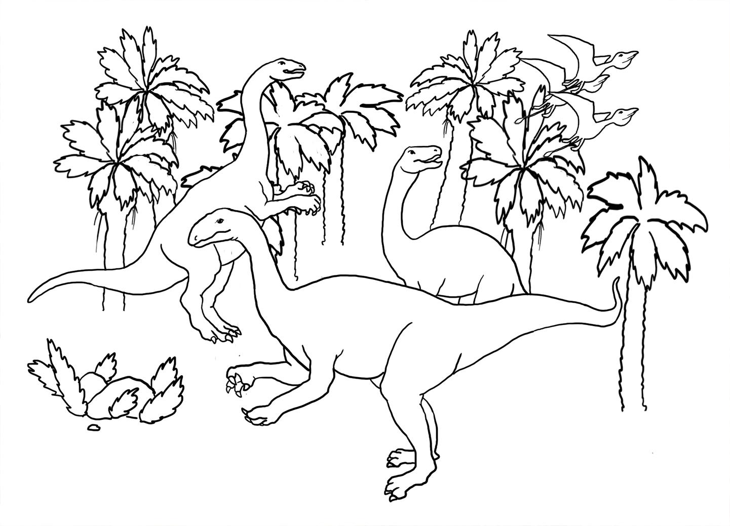 dinosaur coloring sheet brontosaurus