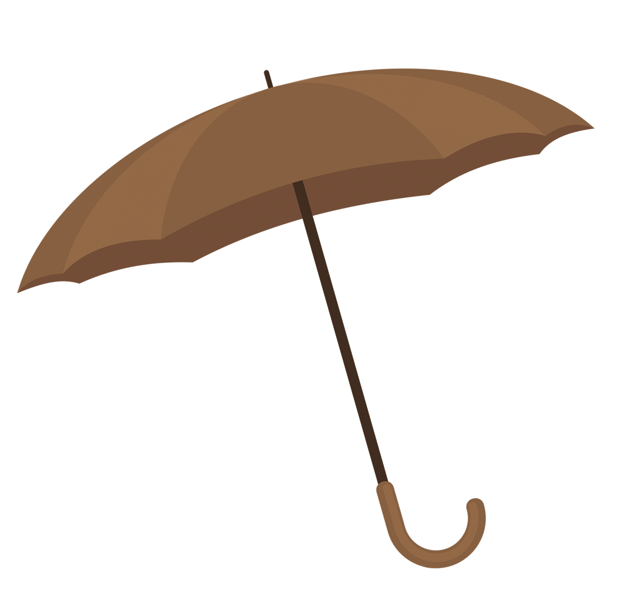 brown umbrella clipart