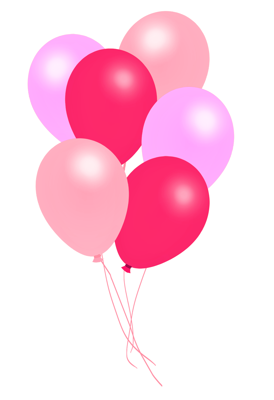 bunch of pink balloons