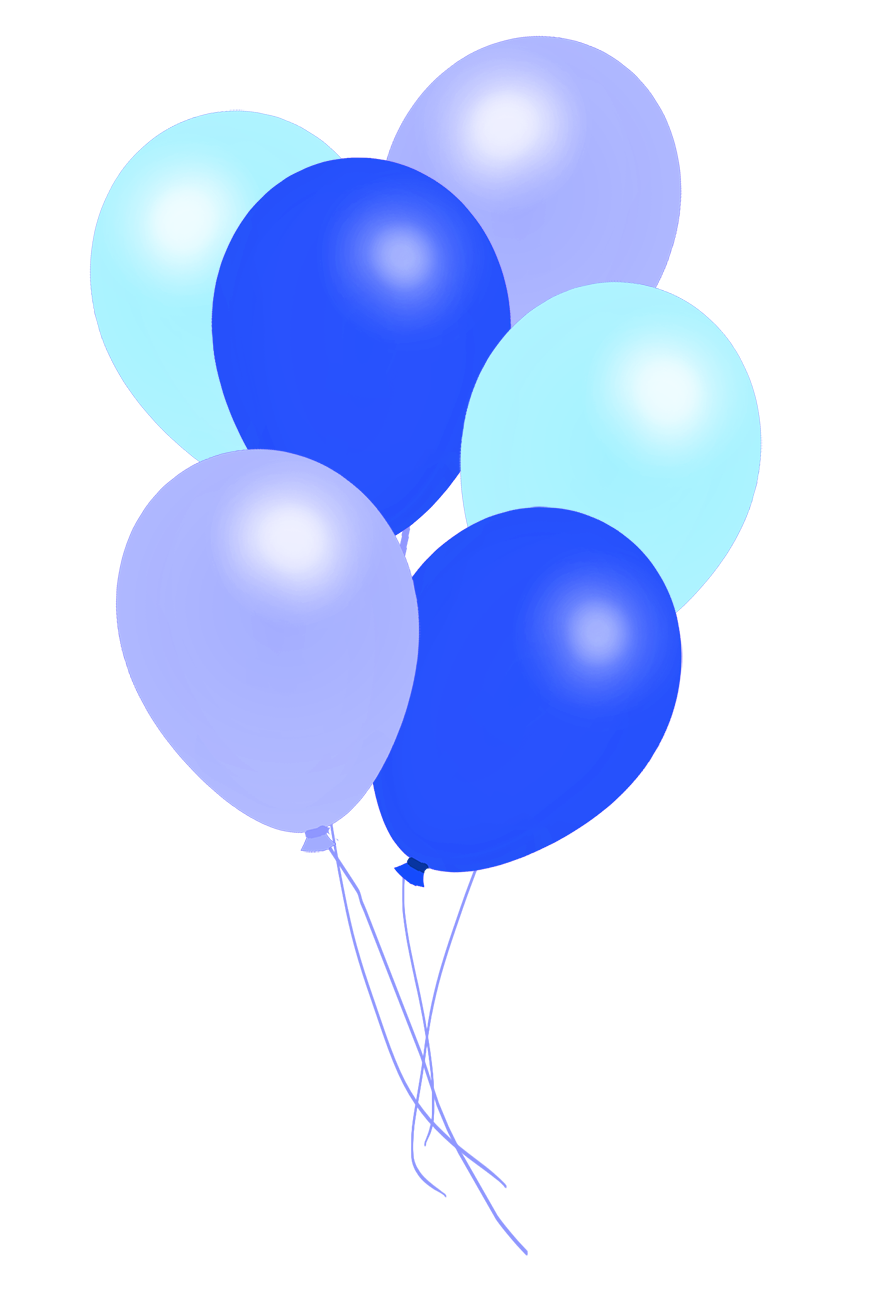 bunch of blue balloons