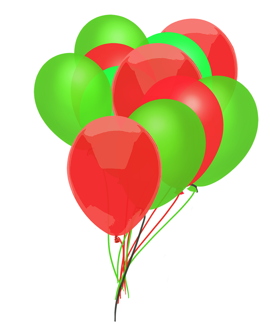 bunch of Christmas balloons