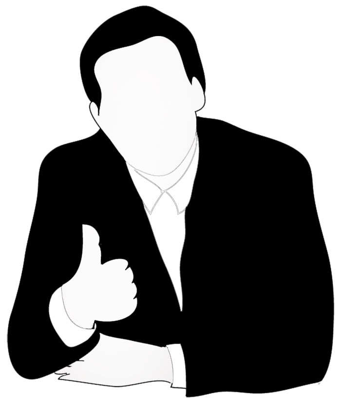business man giving thumb up