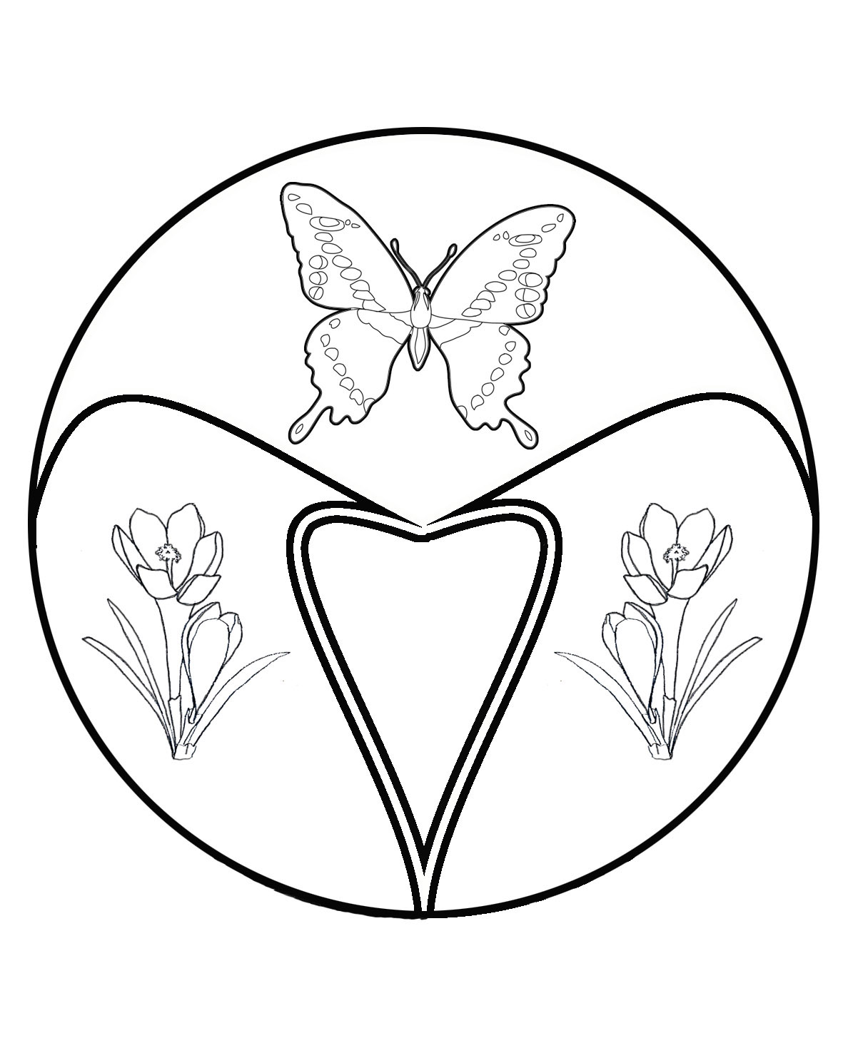 hearts and butterflies coloring page free printable - HD1181×1476