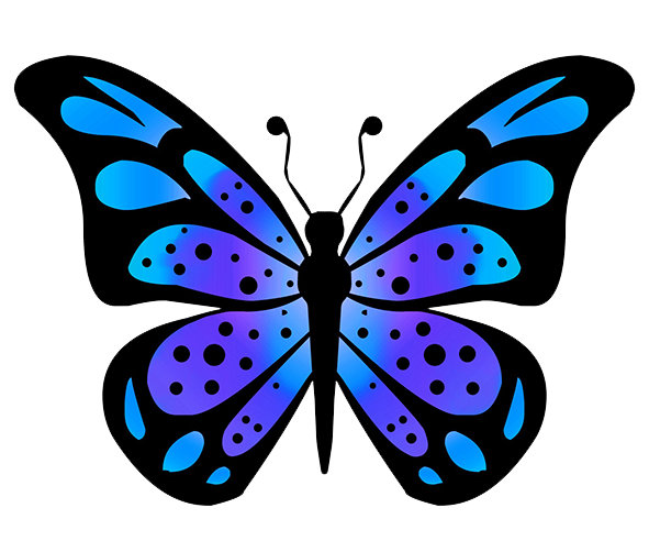 blue wing of a butterfly drawing