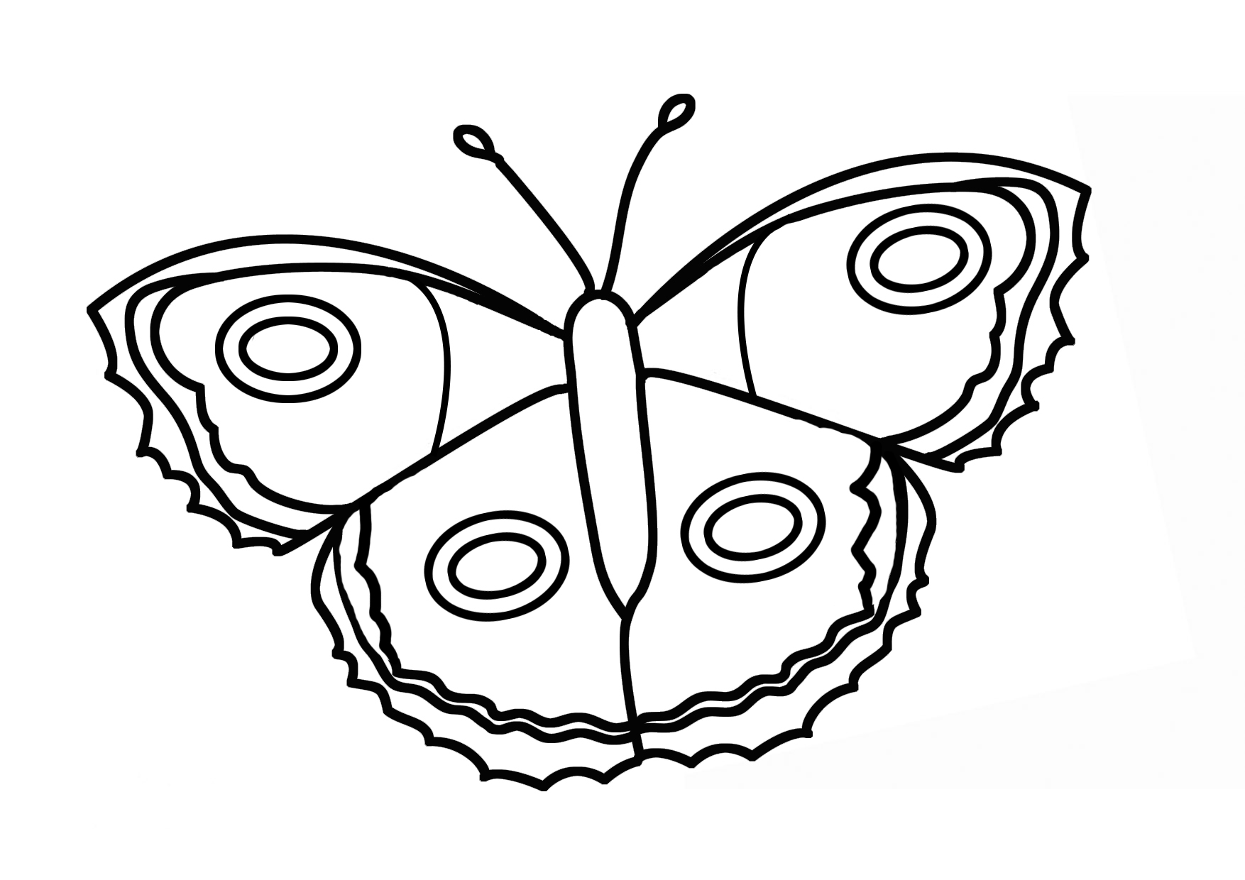 Butterfly coloring page symmetry - More Butterfly Coloring Sheets