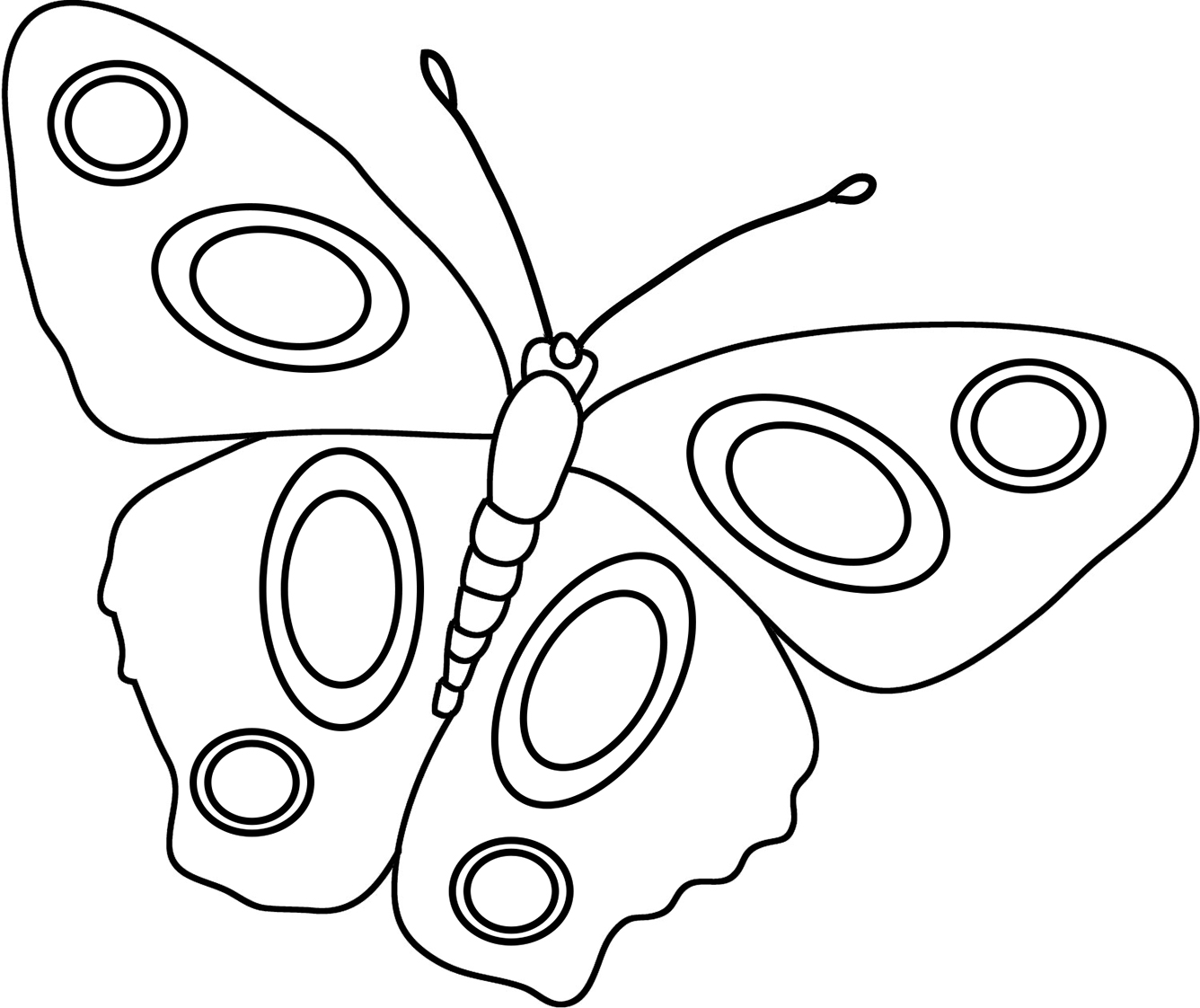 coloring sheet butterfly circles