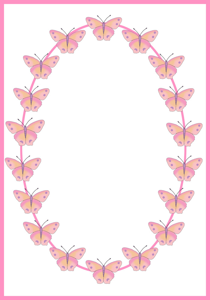 family photo color ideas for summer - Butterfly Border Clipart