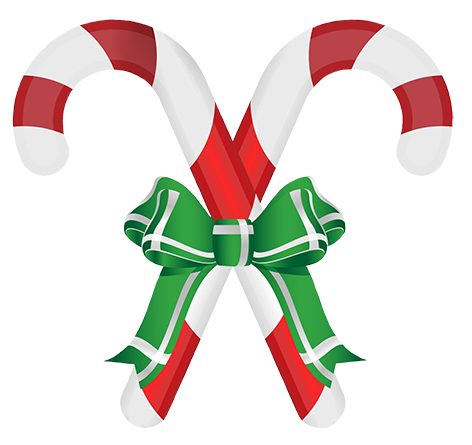candy cane ribbon and bow