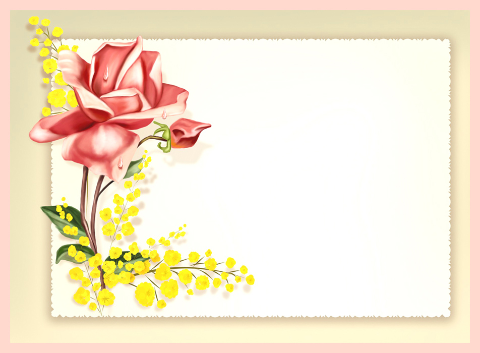free border templates with flowers