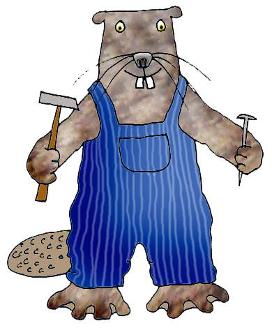 cartoon drawing of beaver