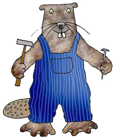 cartoon drawing of beaver