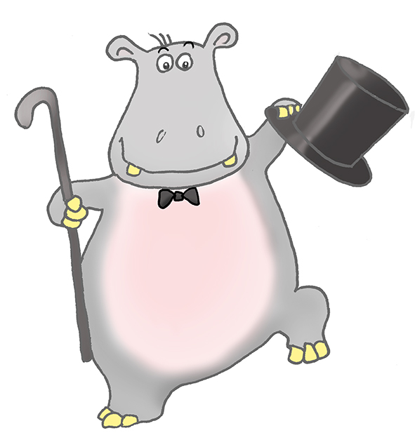 hippo clip art dancing male butterfly