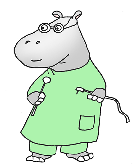 hippopotamus dentist clip art