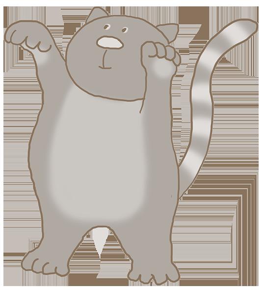 cartoon kitten playing