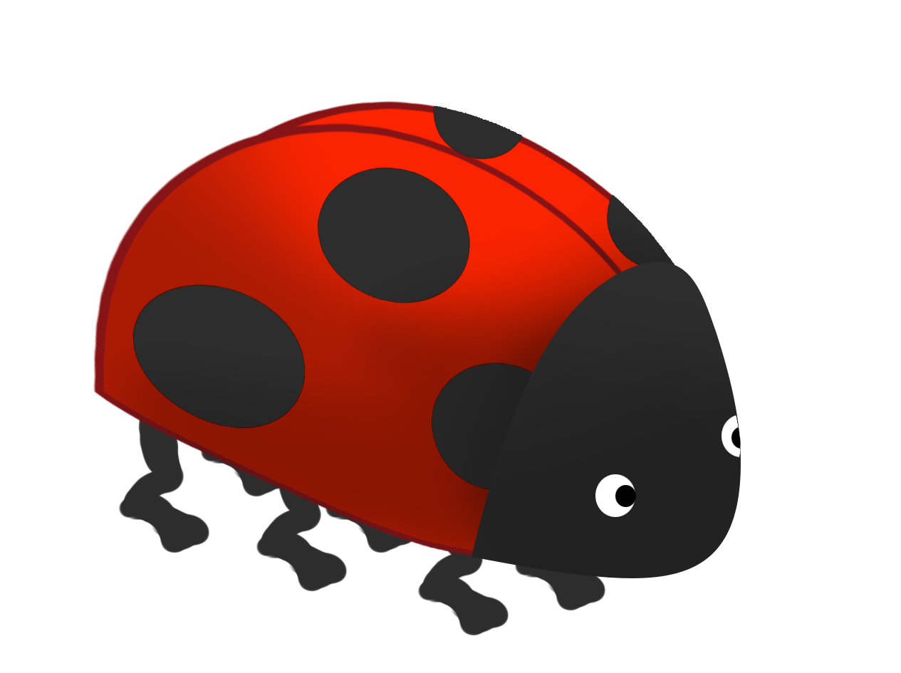 cartoon ladybird shape