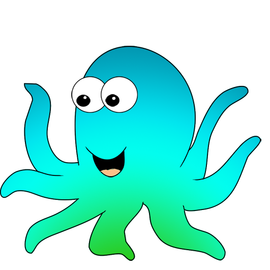 cartoon octopus with big eyes