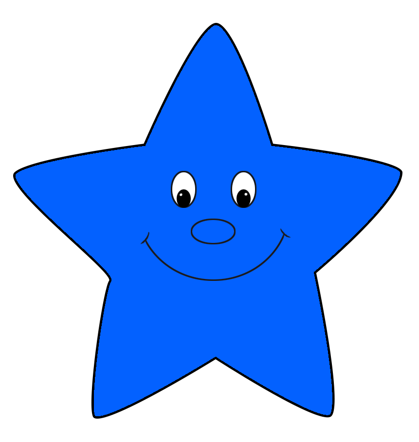 cartoon star blue