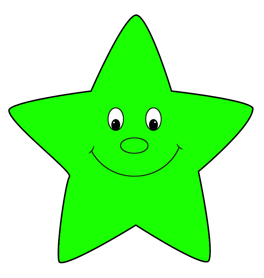 free star clipart green cartoon
