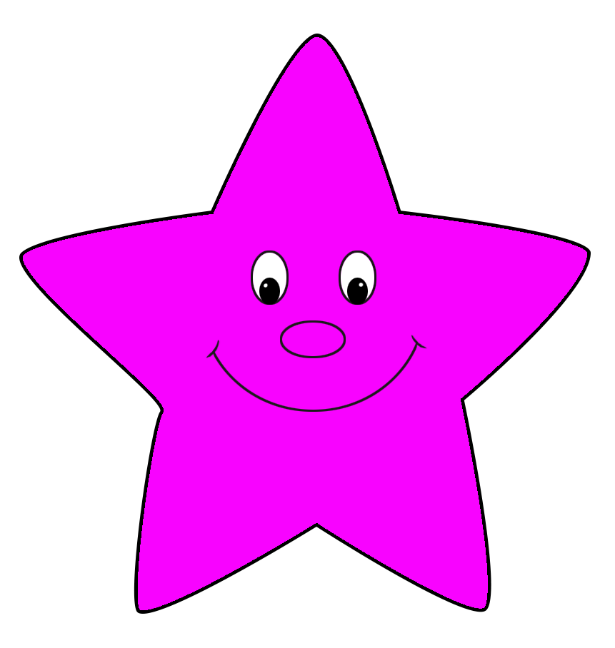 pink cartoon star clip art