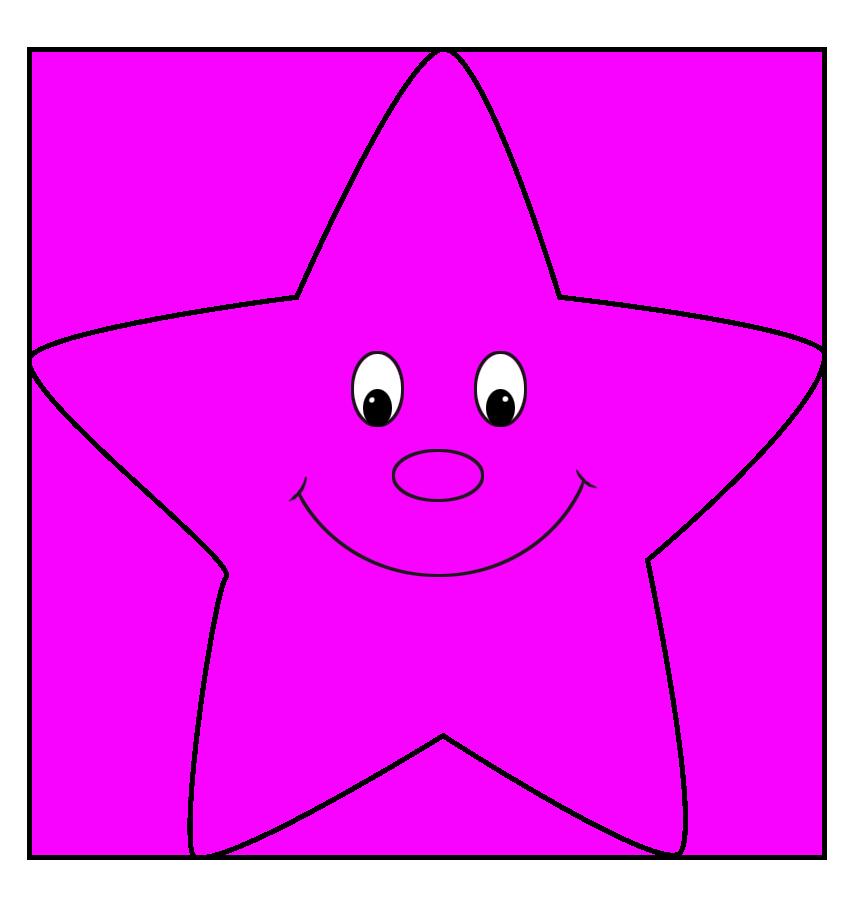 pink cartoon star clip art