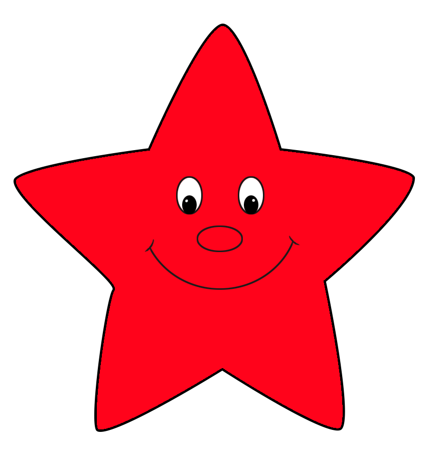red star cartoon