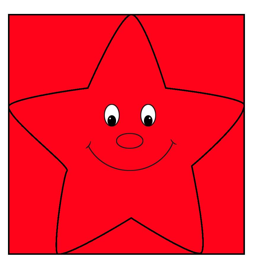 red star cartoon
