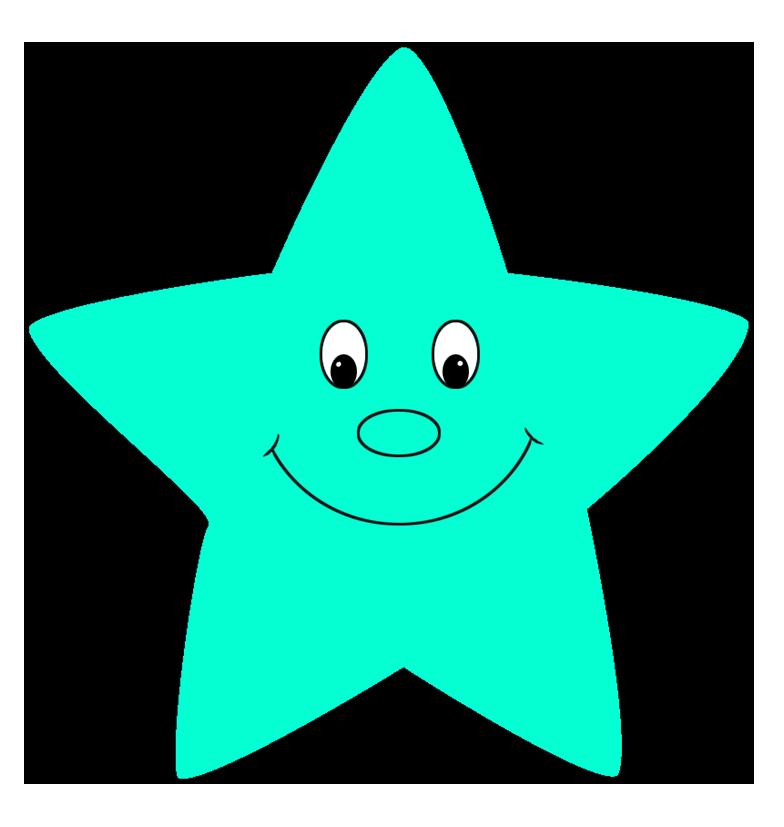 turquoise cartoon star