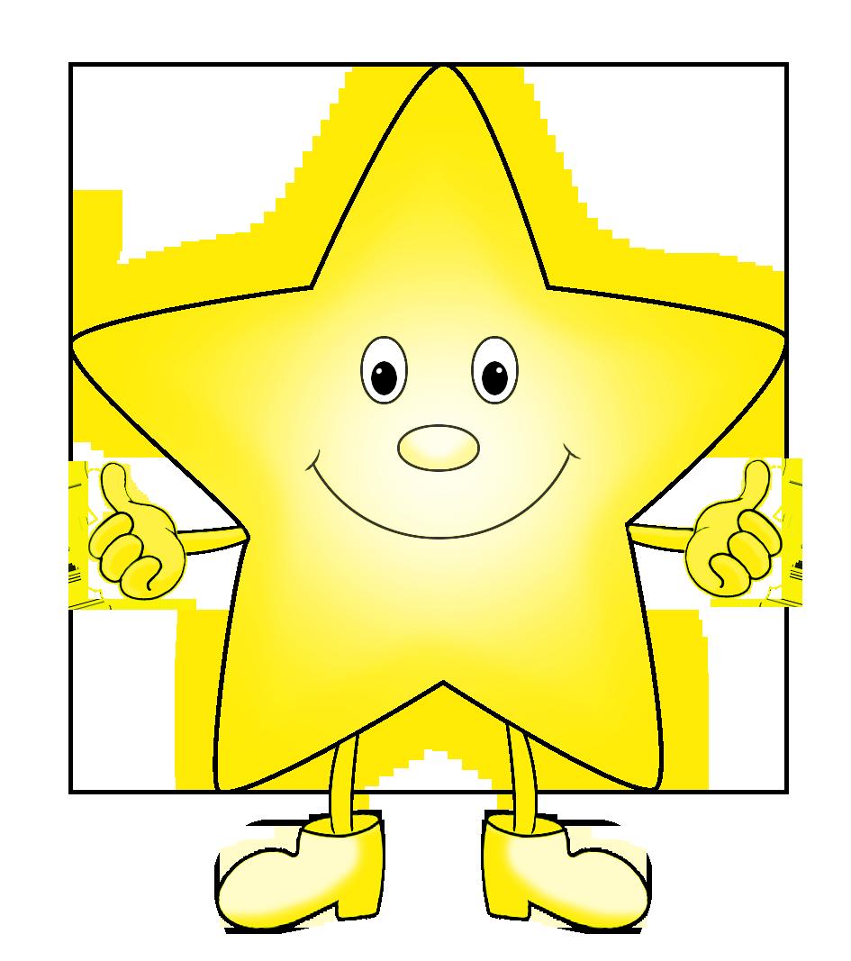 light yellow funny cartoon star clip art