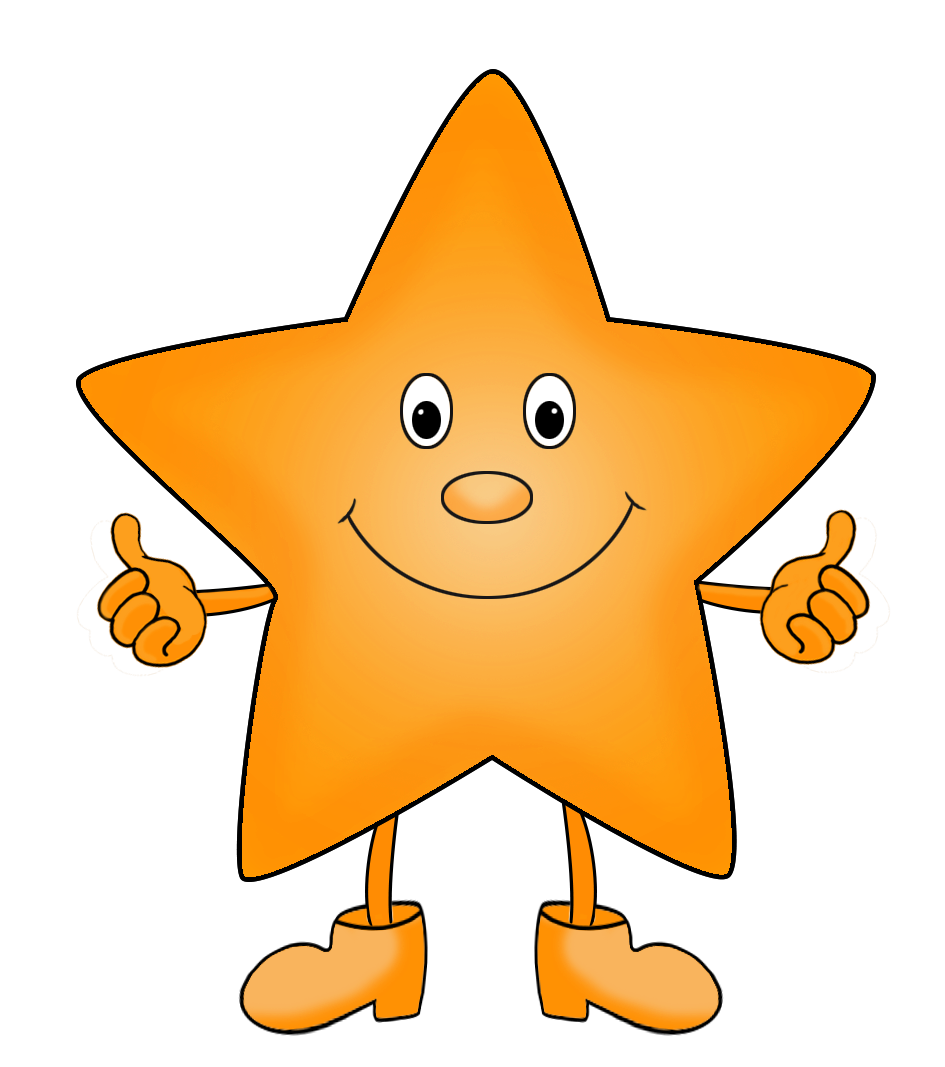 cartoon star clipart orange