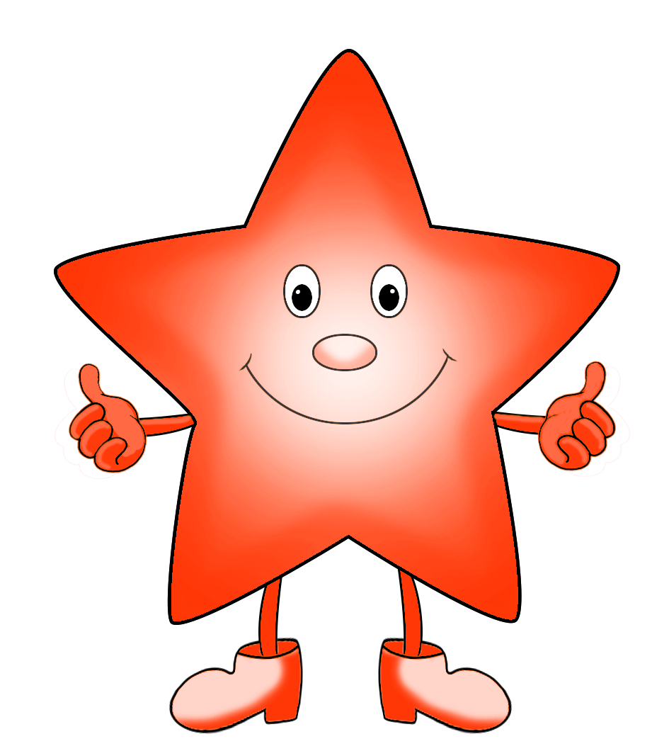 red orange star cartoon clipart
