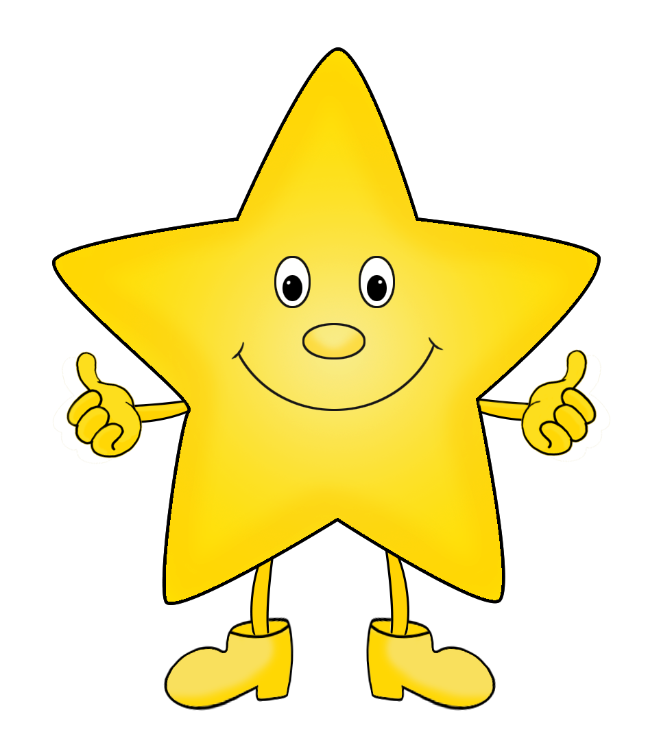 cartoon star with legs and arms