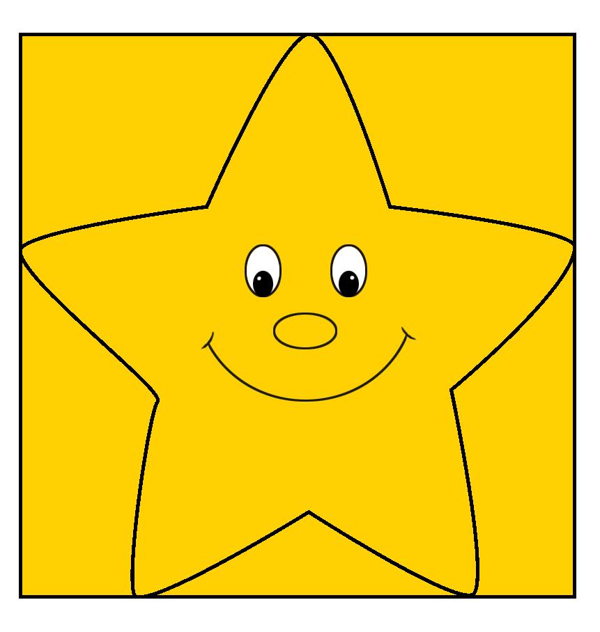 Yellow cartoon star drawing