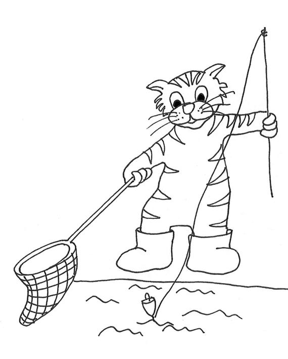fishing cat sketch