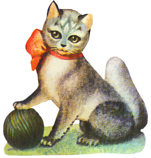 cat with yarn image