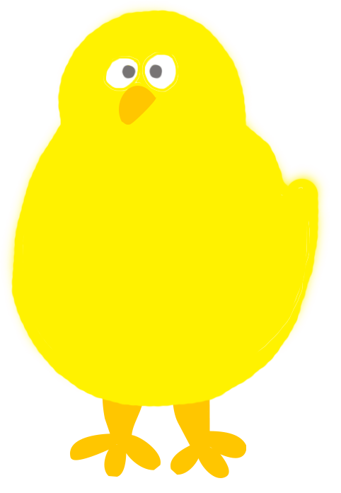 Yellow Easter chicken