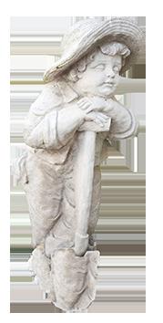 garden statue child with spade